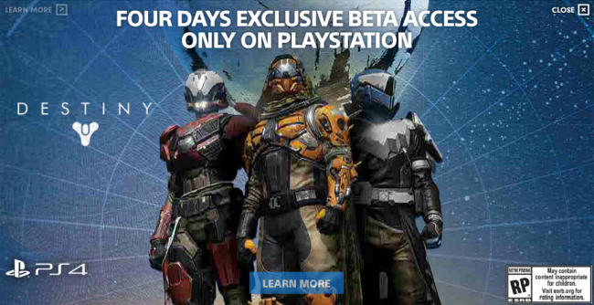 PS Users Receive 4 Days of Beta Exclusivity