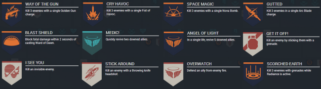 All Crucible Medals in the Beta