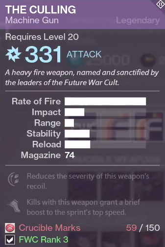 All of the new vendor weapons